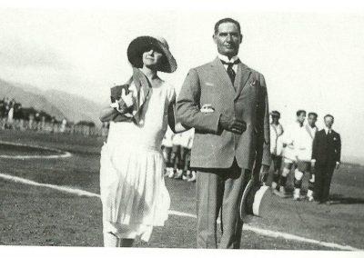 Sixto Machado el dia de la inauguracion de estadio del CD Tenerife en 25 de Julio de 1925-foto blanco y negro