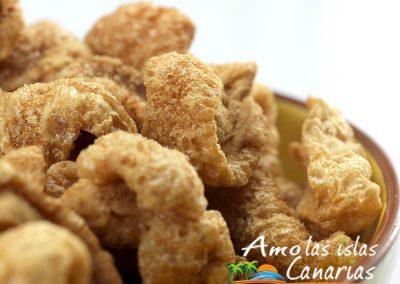 chicharrones gofio comida tipica de las islas canarias adeje