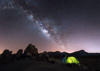 estrellas een el cielo de tenerife foto amo las islas canarias