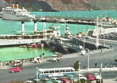 foto antigua de tenerife blanco y negro puerto