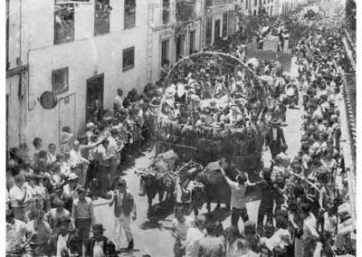foto blanco y negro Romería de San Isidro La Orotava-TENERIFE