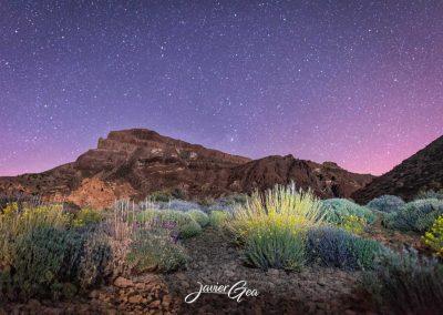 foto del cielo con estrellas en el teide tenerife amo las islas canarias