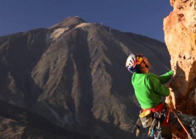 foto escalada en Tenerife Islas Canarias en las montañas