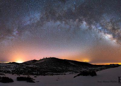 fotos de cielo estrellado de las Islas canarias Tenerife La Gomera Gran Canaria amolasislascanarias.es