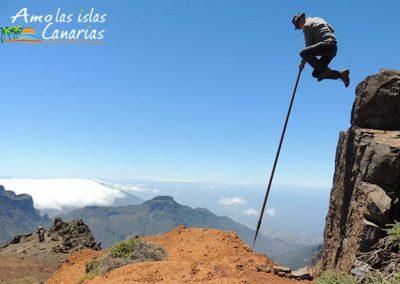 fotos de salto del pastor canario montana deportes autoctonos de las islas canarias españa arona
