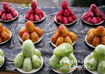 higos chumbos higos picos rojos verdes y amarillos fruta de canarias adeje