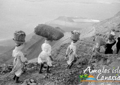 imagenes antiguas de la mujer canaria en sus labores y trabajos diarios islas canarias adeje