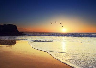 imagenes de un atardecer en la playa de tenerife gran canaria lanzarote fuerteventura turismo vacacional fotos islas canarias