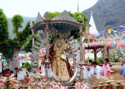 procesion de la virgen de la luz en los silos tenerife