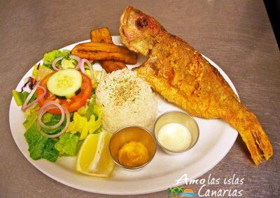 receta de pargo frito plato tipico de pescado de las islas canarias adeje