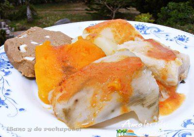 receta del sancocho batatas con mojo y gofio canario adeje