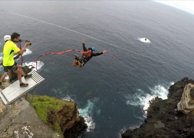 rope jump en los acantilados de santa ursula tenerife