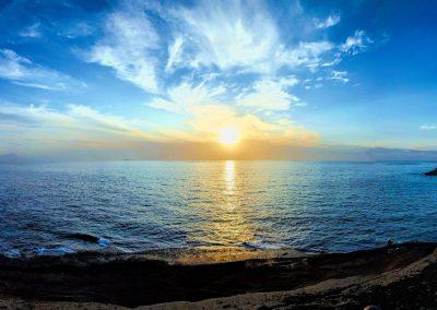 sunset paisaje de tenerife foto de las islas canarias