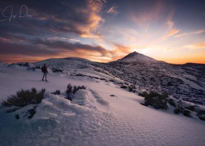 teide con nieve nevado tenerife volcan con nieve islas canarias
