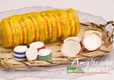 turrones tradicionales de almendras dulces tipicos de canarias arona