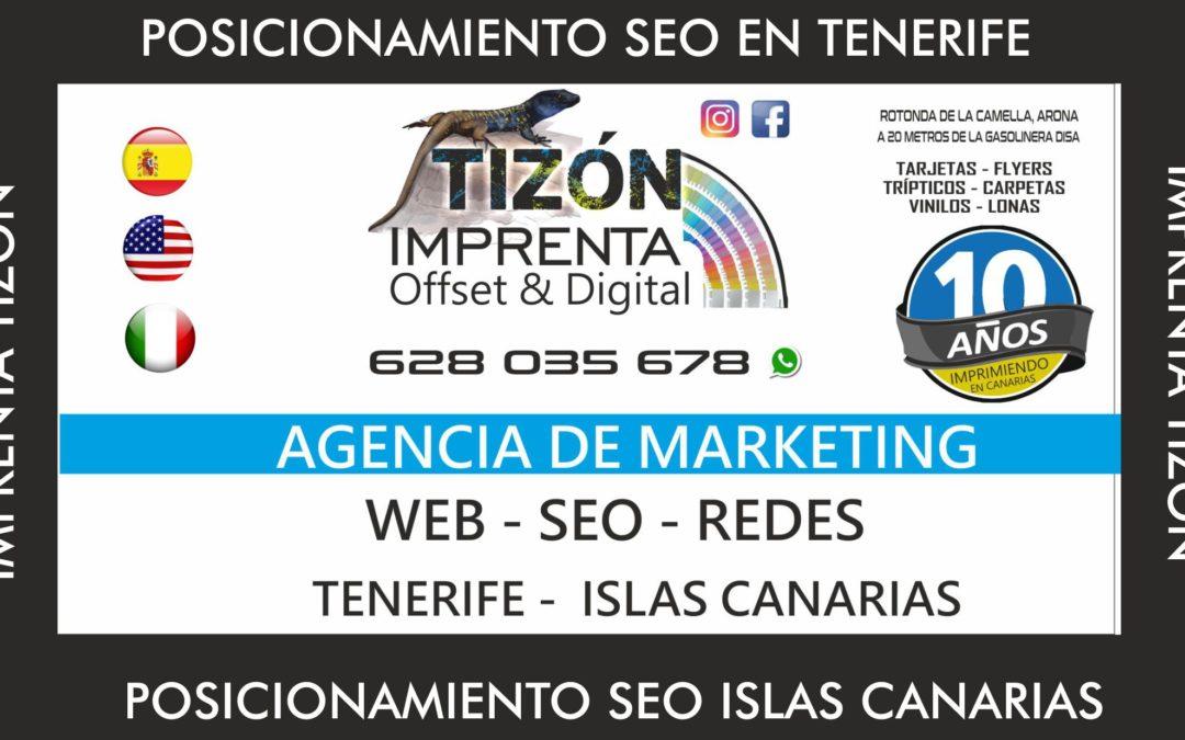 Agencia SEO ISLAS CANARIAS en TENERIFE