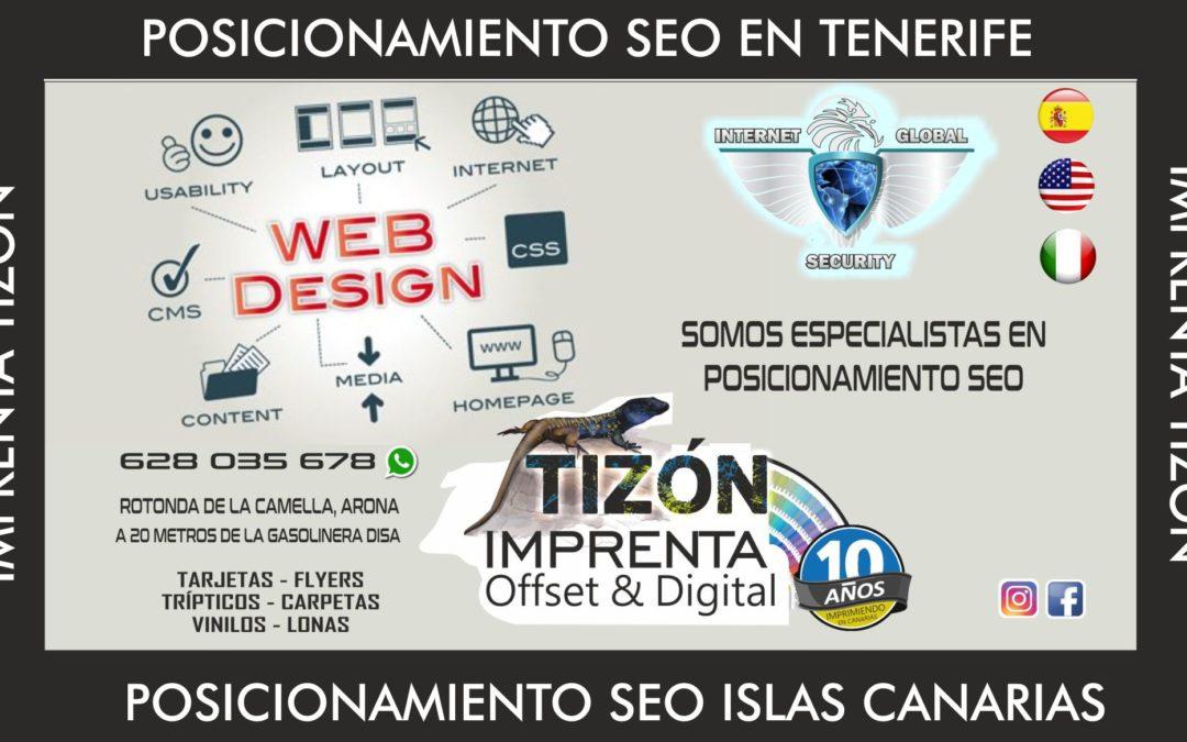 Diseño web ISLAS CANARIAS en TENERIFE