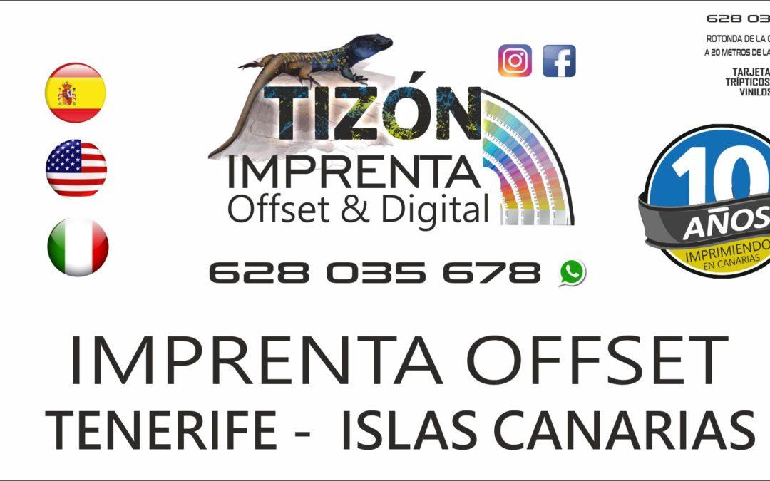 imprentas en islas canarias tenerife sur norte