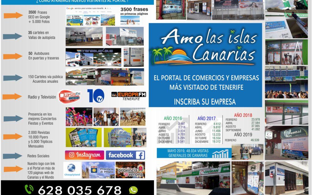 portal de comercios islas CANARIAS SERVICIOS tenerife info comercio internacional international infocommercio