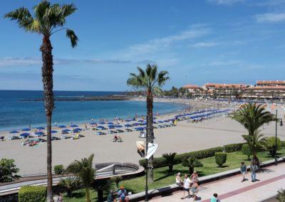 playa de las vistas en los cristianos arona tenerife sur paseo de las vistas nadar