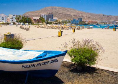 playa de los cristianos en arona tenerife sur playa del muelle pueblo pesquero puerto de los cristianos