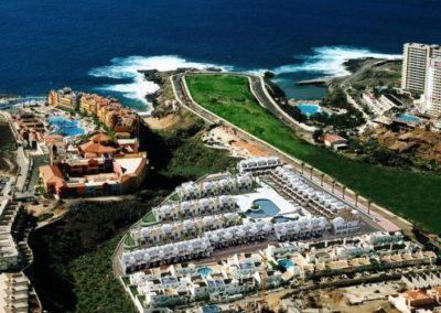 playa paraiso en costa adeje tenerife sur vista aerea turismo