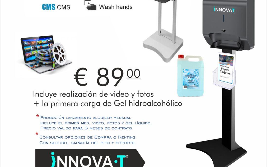 pantallas lcd con dispensador de gel automatico Tenerife Canarias Innovat innovate