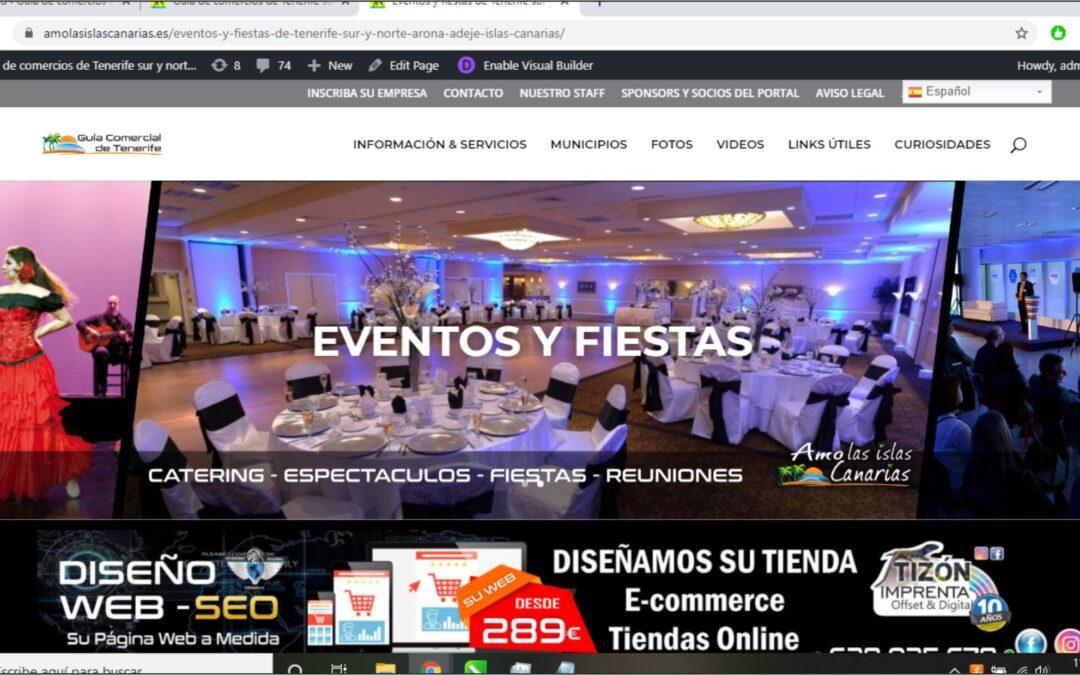 eventos y fiestas en Tenerife sur y norte Islas Canarias