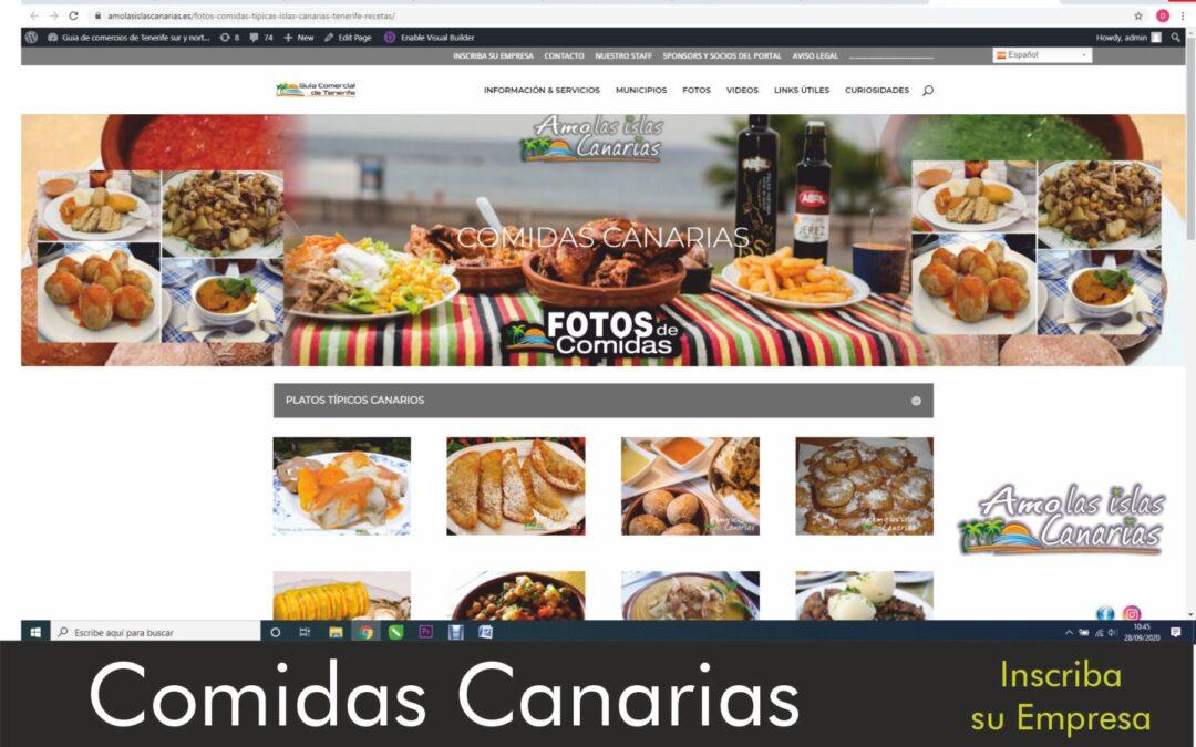 fotos de comidas canarias islas canarias