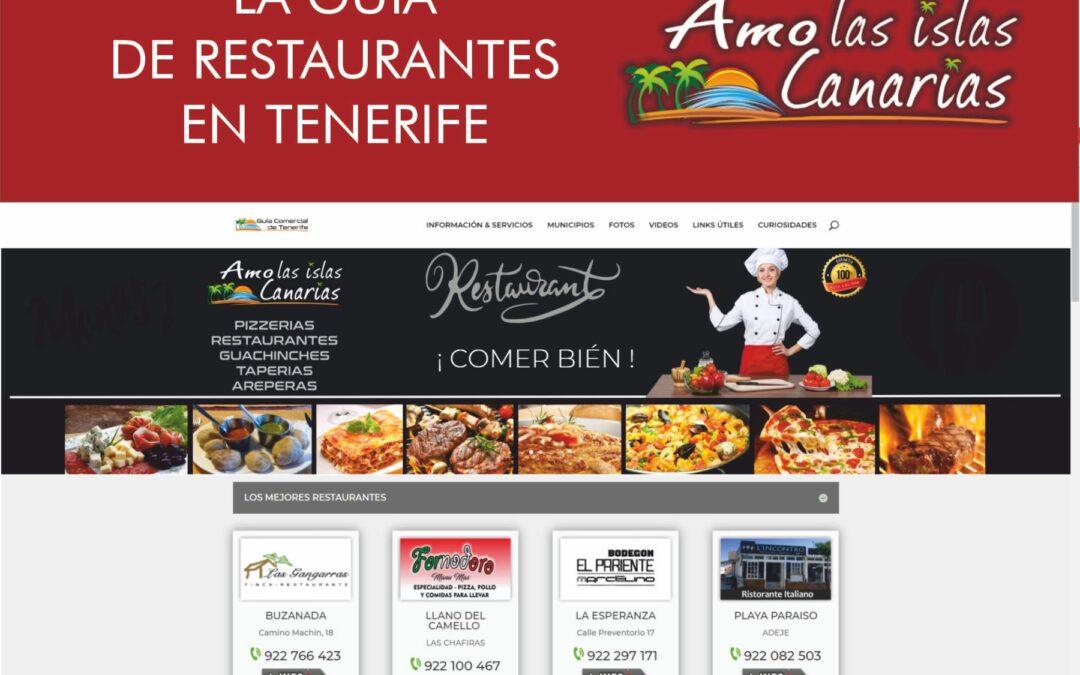listado de restaurantes en Tenerife sur Islas Canarias