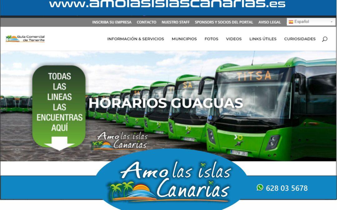 horarios de guaguas en Tenerife sur y norte Islas Canarias
